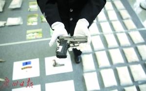 警察缴获的枪支