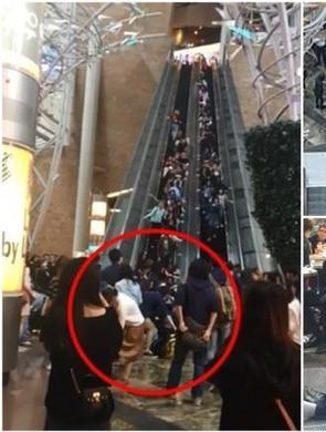 香港40米通天扶梯急停18人受伤