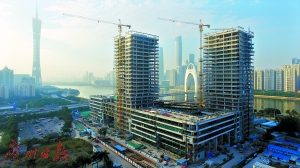 广州日报正大力加快推动媒体深度融合发展。这是建设中的广报中心。   广州日报全媒体记者庄小龙摄