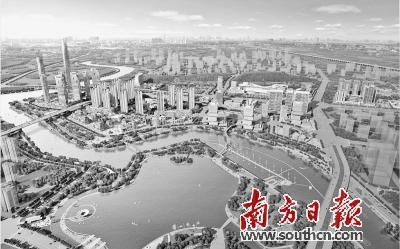 """三山新城""""香港城""""鸟瞰全景。资料图片"""