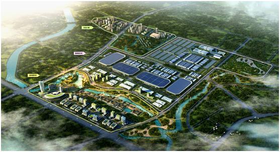 广汽智联新能源汽车产业园鸟瞰图