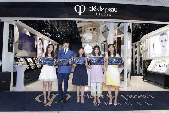 CPB肌肤之钥广州天环广场概念体验店开幕剪彩仪式