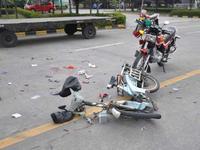 广州三年来摩托车交通事故死亡人数占总事故四成以上