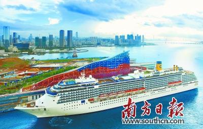 蛇口太子湾邮轮母港已经成为珠三角乃至中国的重要邮轮母港。吴伟洪 摄