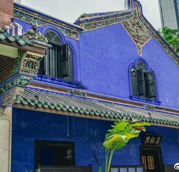 @陆建华摄影:十大豪宅之一槟城蓝屋