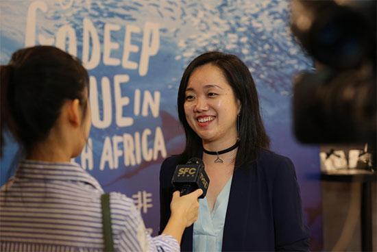 南非旅游局中国及港澳地区市场公关经理陈小燕女士接受采访