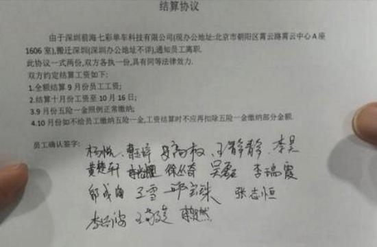员工签署结算协议
