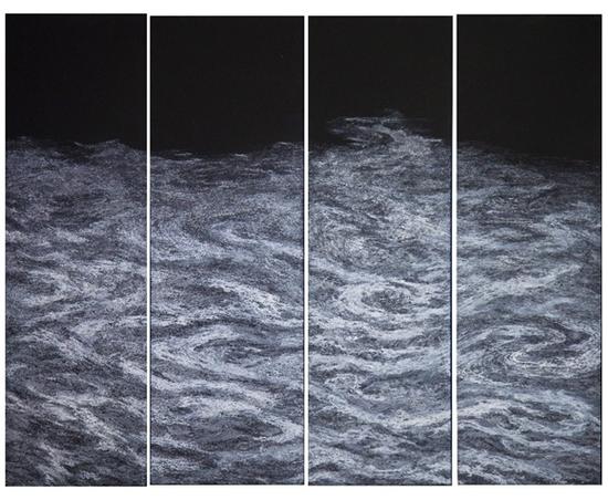 《潺潺》 130×160cm 纸面设色 中央美术学院 黄世华