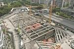 地铁5号线东延段首座车站封顶