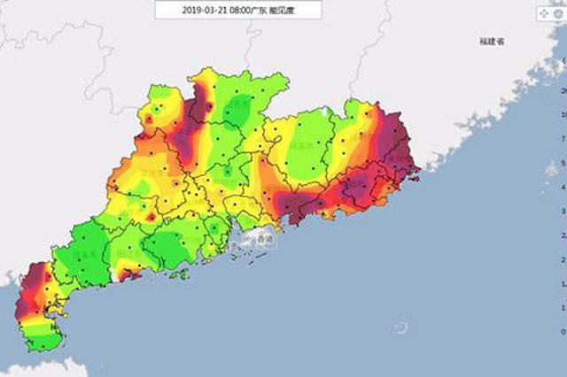 21日夜间起广东自北向南有强对流 气温普降5℃~8℃