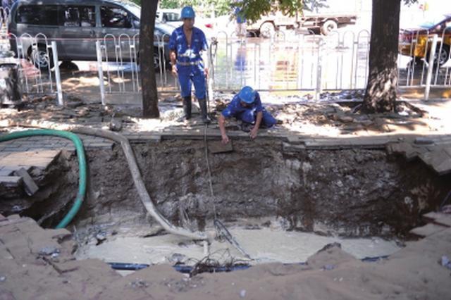 广州黄埔东路爆水管抢修需停水 已出动应急水车送水