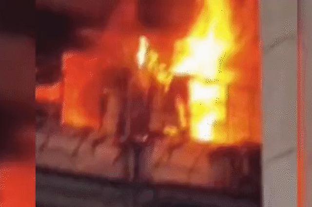 广东佛山一公司仓库发生火灾 一人轻伤已送医救治