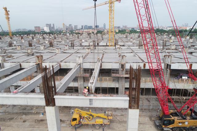 广州地铁十八号线陇枕停车场 即将实现上盖封顶