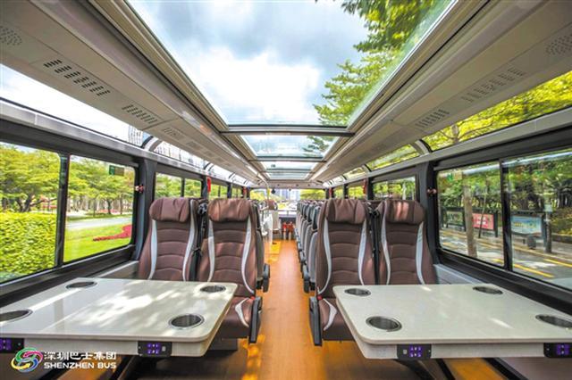 玩转深圳 升级版全景天窗旅游观光巴士即日开通