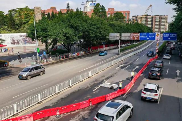 广州一立交桥桥墩监测点出现沉降 已封闭双向通行