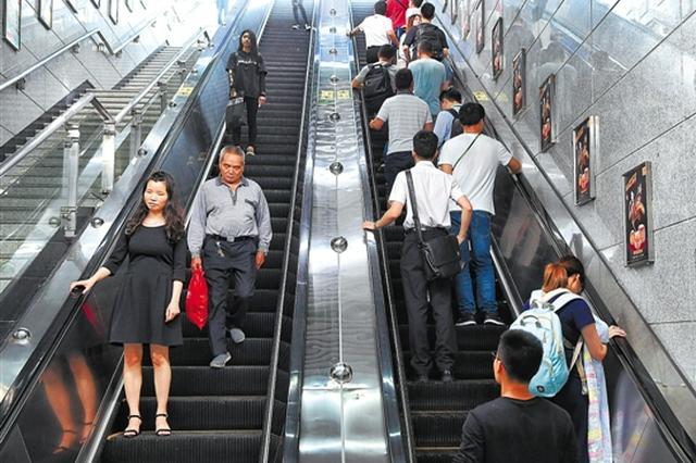 """自动扶梯将成广州地铁新线""""标配"""" 旧线路将分批分类统筹加装"""