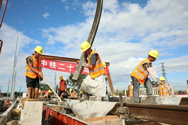 珠三角城际广佛东环线首段无砟道床完工 为铺轨施工奠定基础