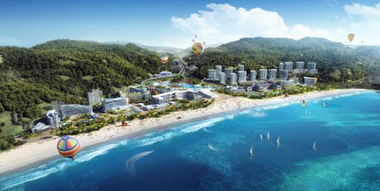 佳兆业金沙湾国际乐园项目鸟瞰图
