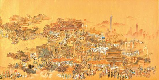 广州版《抗疫图》 作者:陈志杰