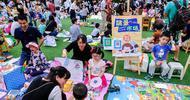 幼儿园的绿色淘宝跳蚤市场