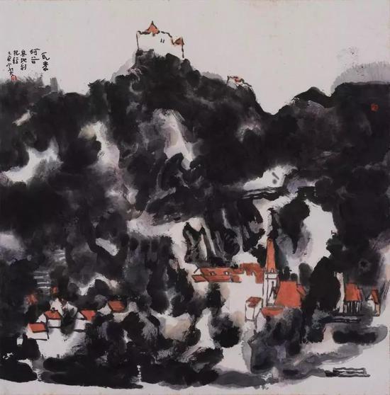瓦豪河谷(奥地利) | 69×69cm | 纸本水墨