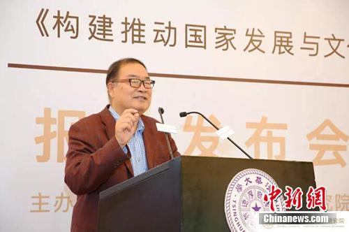 清华大学文化经济研究院院长魏杰作报告阐述。清华大学文化经济研究院供图
