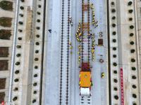 汉十高铁正式进入铺轨施工