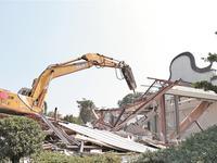 南国桃园违建进行第二阶段拆除