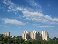 (15日早晨广州天气晴朗。图片来源于微博网友)
