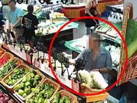 男子超市偷菜成瘾被抓