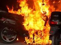电动车着火致1死3伤
