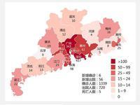 2月21日广东新增出院56例 累计出院720例 在院确诊614例
