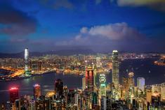 """追赶城市森林香港的""""黄金""""夜色"""