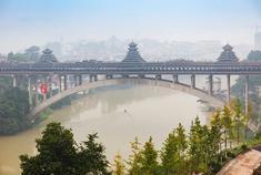 有侗族美感的风雨桥