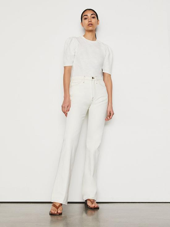 Le Italien系列白色牛仔裤