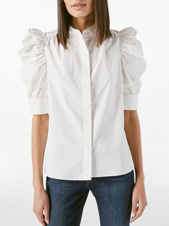 Gillian蓬蓬袖白色衬衣