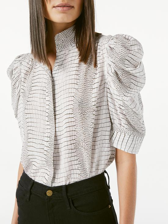 Gillian蓬蓬袖印花衬衫