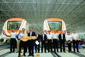 """十四号线一期列车已交付给广州地铁,而全线列车均为""""广州造""""。"""
