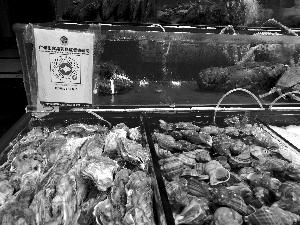 ▲在黄沙水产市场,市民可在档口扫码了解水产品情况。