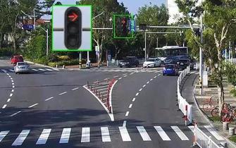 珠海路口红灯右转有大变化