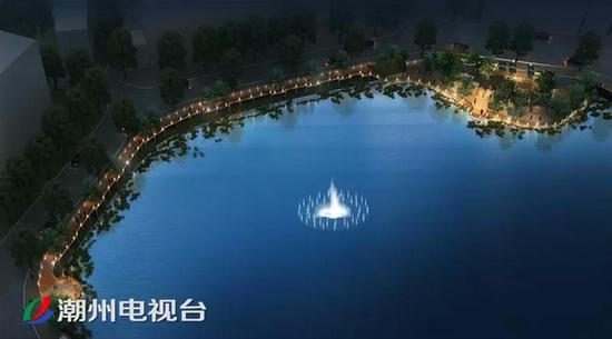 白桥节点增设喷泉效果图