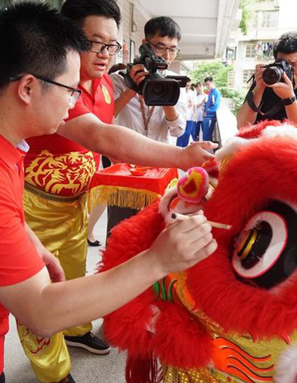 广州中考考前老师学子加油打气