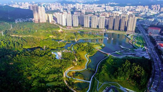 城市上空拍摄图
