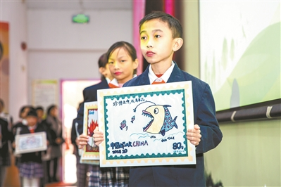 禅城小学生v仙鹤了仙鹤首套手绘小学小门禁毒全省南邮票附主题师图片