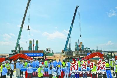 今年5月,巴斯夫广东新型一体化基地开建。资料图片