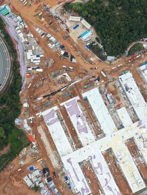 深圳三院二期应急院区紧张建设中