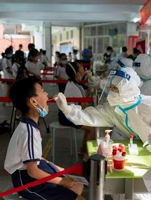 广州海珠小学进行开学前核酸检测
