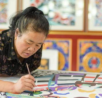 重庆渝帆:湟中农民画源于寺庙