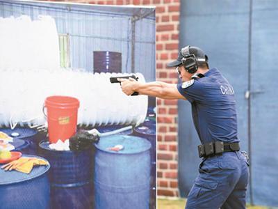 """决战""""枪王之王"""":第二届世界警察手枪射击比赛昨日开赛"""