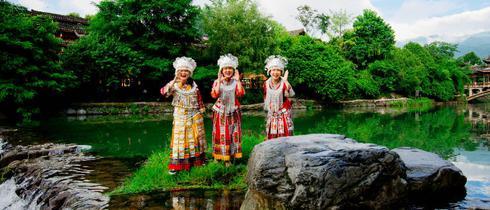 全世界最大的苗族聚居村 西江苗寨
